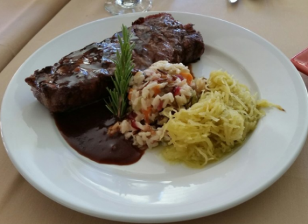 Nepheles Creative California Cuisine, Charred Aged Top Sirloin Steak