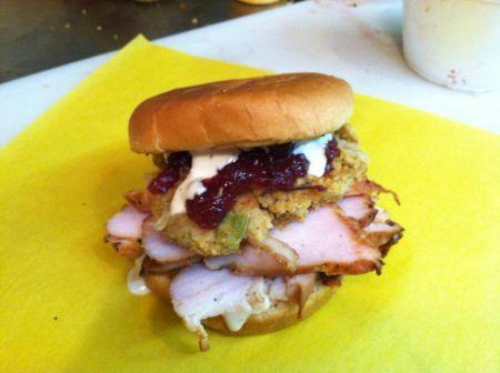 Moe's Original Bar B Que, Thursday: Smokey Thanksgiving Sandwich