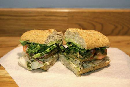 Mountain High Sandwich Co., House Smoked Turkey Pesto Avocado