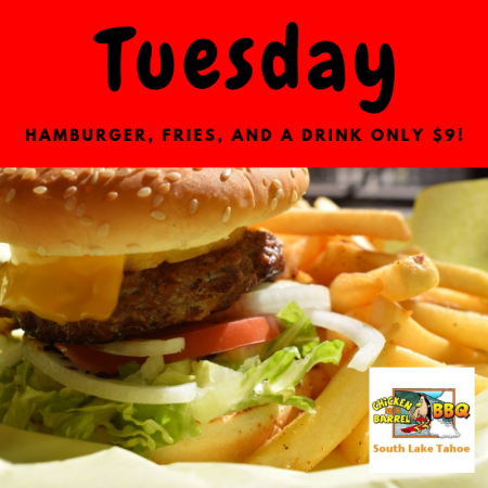 Chicken In A Barrel, Tuesday's $9 Special