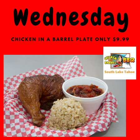 Chicken In A Barrel, Wednesday's Tasty Meal Deal