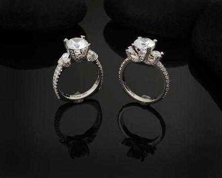 Steve Schmier's Jewelry, 3-Stone Fancy Engagement Ring