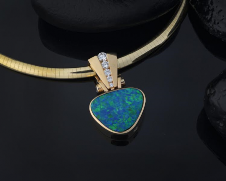 Steve Schmier's Jewelry, Big Hinged Opal Pendant