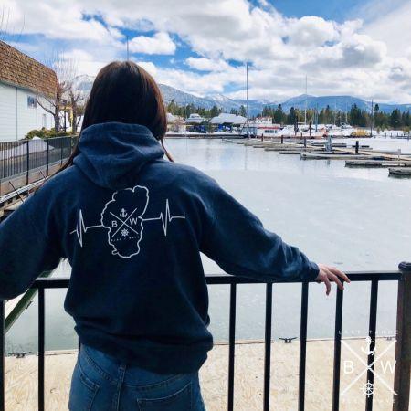 Bleu Wave Cruises, BleuWave + Tahoe Heart Beat Unisex Hoodie