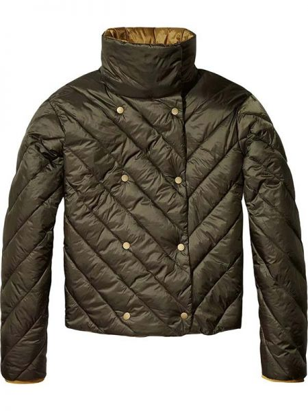 Tahoe University, Double-Breasted Puffer Jacket