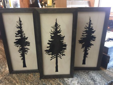 Laser Cut Wood Tree Wall Decor | Mountain Home Center | Lake Tahoe ...