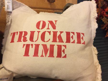Mountain Home Center, On Truckee Time, Throw Pillow