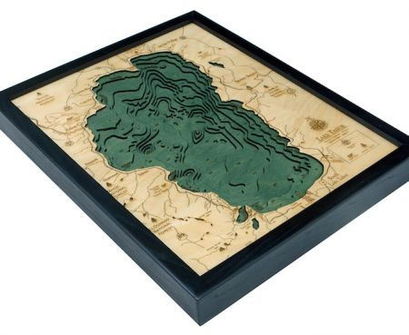Cabin Fever Tahoe City, Wooden 3D Tahoe Nautical Maps