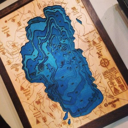 The Trunk Show, Lake Tahoe Topo Map