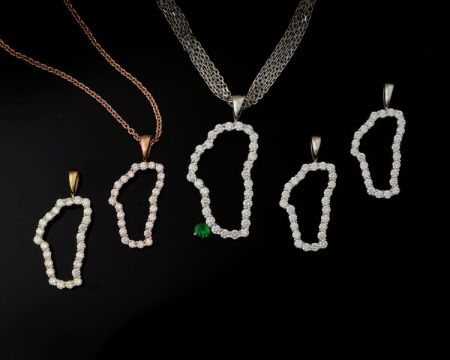 Steve Schmier's Jewelry, Diamond Silhouette of Lake Tahoe