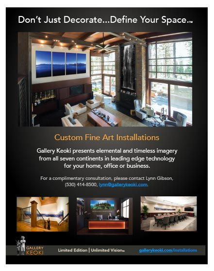 Gallery Keoki, Don't Just Decorate... Define Your Space!