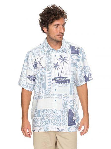Tahoe Dave's, Waterman Tropic Mix Short Sleeve Shirt