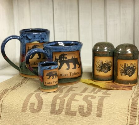 The Robin's Nest Lake Tahoe, Handcrafted Azul Kitchenware
