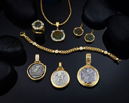 Steve Schmier's Jewelry, Greek & Roman Coin Jewelry