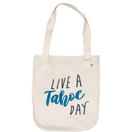 "Live A Tahoe Day, ""Live a Tahoe Day"" Tote Bags"