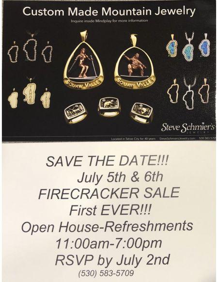 Steve Schmier's Jewelry, Firecracker Sale - First Ever Save the Date