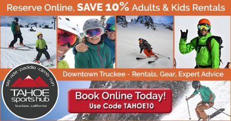 Tahoe Sports Hub, Book Online, Save 10% on Rentals When You