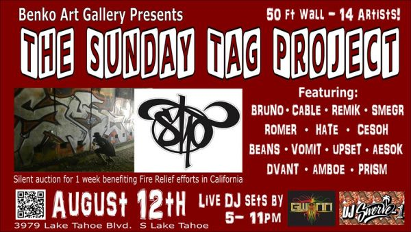 The Sunday Tag Project | Benko Art Gallery | Lake Tahoe Events