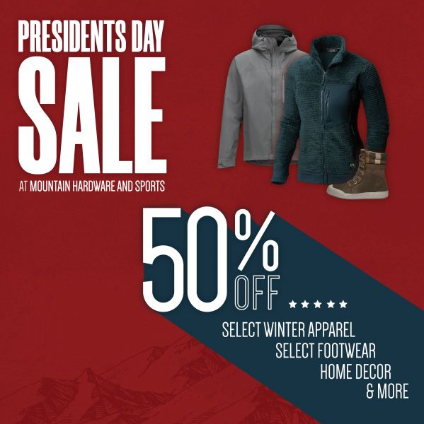 Presidents Day Sale Mountain Hardware Sports Lake Tahoe Events