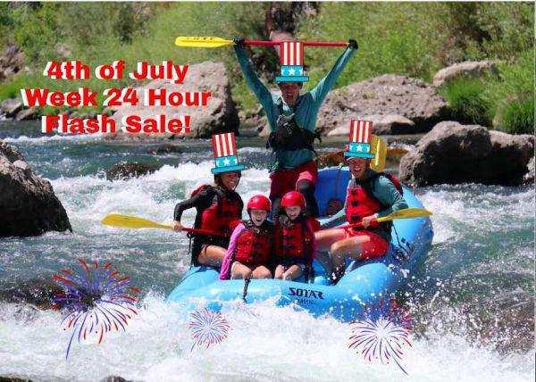 4th of July Week Flash Sale - IRIE Rafting Trip | IRIE
