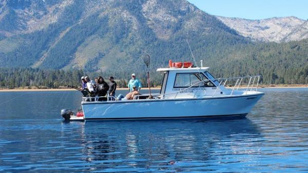 Private fishing charter from ski run marina tahoe sport for Tahoe sport fishing