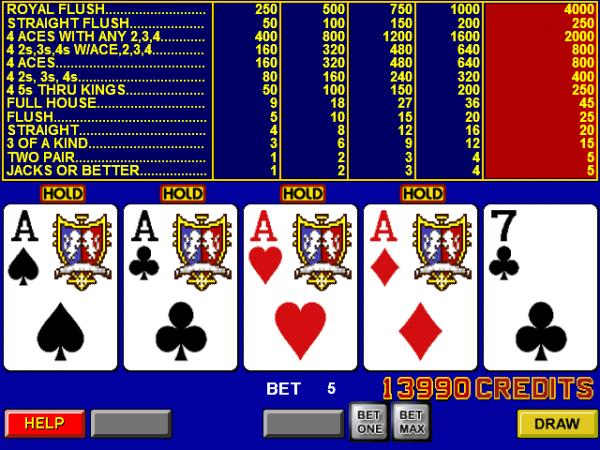 Online Casino Video Poker Trainer